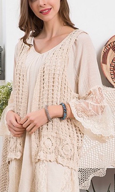 Crochet Vest *Cream*