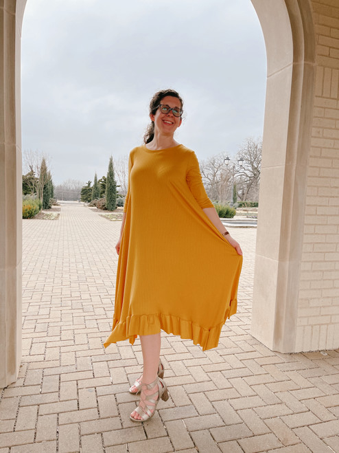 Willow Swing Dress Yellow Rib *Womens*