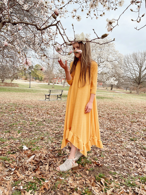 Willow Swing Dress Yellow/White Stripe *Girls*