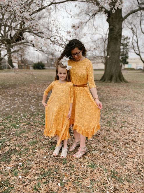 Willow Swing Dress Yellow/White Dots *Womens*