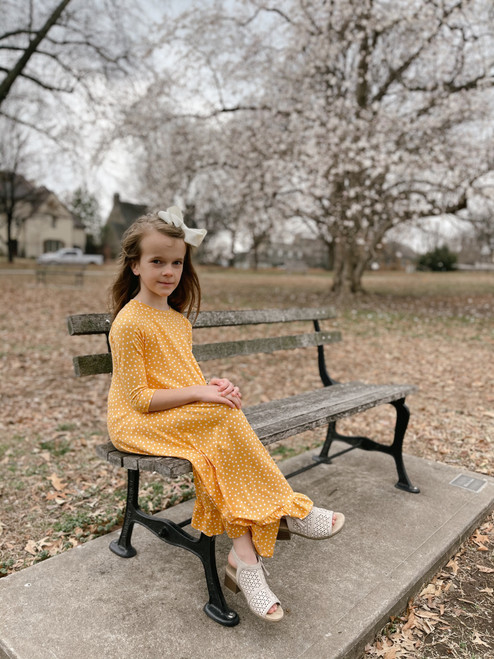 Willow Swing Dress Yellow/White Dots *Girls*