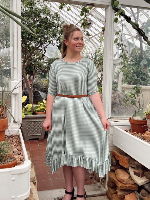 Willow Swing Dress Green Stripe *Womens*