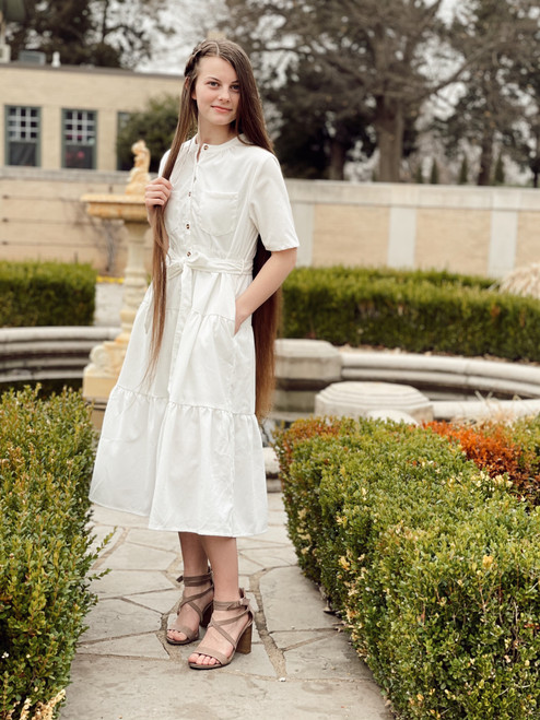 Caitlin White Tiered Dress