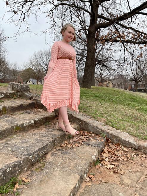 Willow Swing Dress Coral Stripe *Womens*