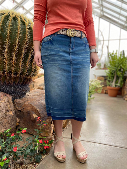 Hailey Vintage Wash Denim Skirt