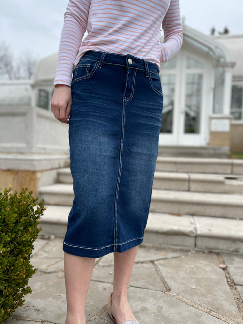 Melody Denim Skirt *Dark Wash*
