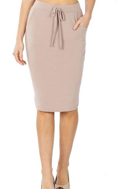 Amelia Drawstring Skirt *Taupe*