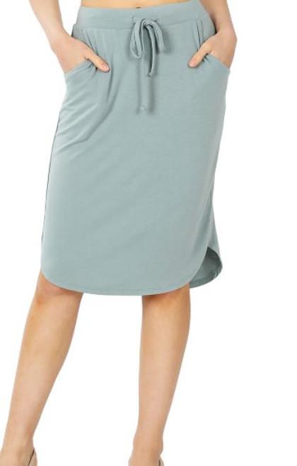 Amelia Drawstring Skirt *Lt Green*