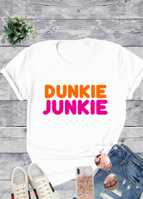 Dunkie Junkie Graphic Tee *White*