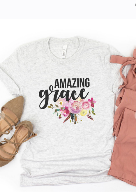 Amazing Grace Floral Graphic Tee