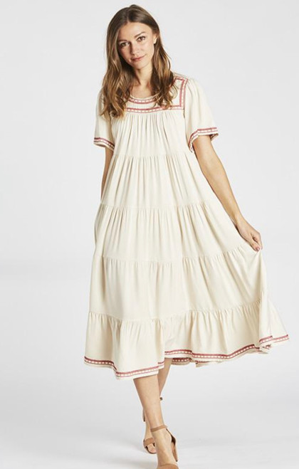 Harlow Tiered Twirl Dress *Ivory*