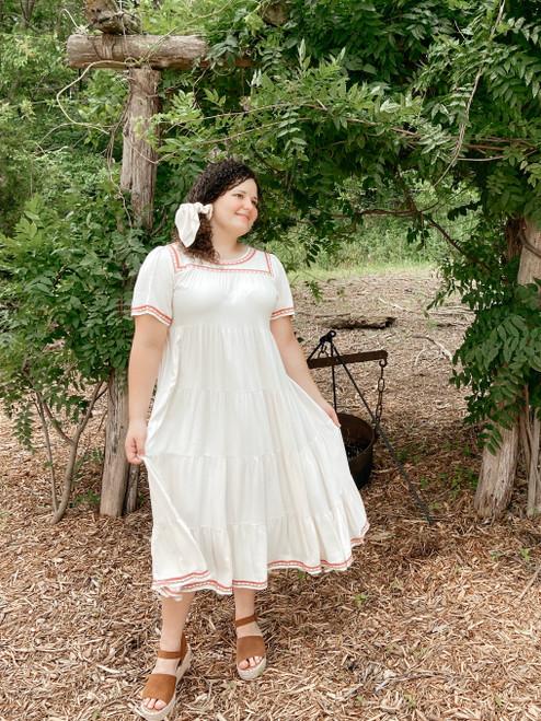 Harlow Tiered Twirl Dress *Ivory*