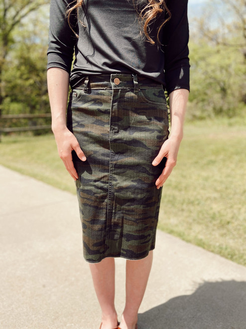 Emma Denim Skirt *Camo* Juniors