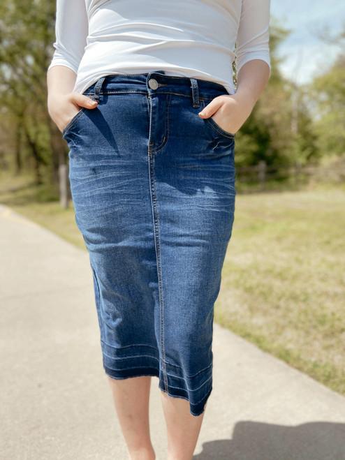 Hailey Denim Skirt *Indigo*