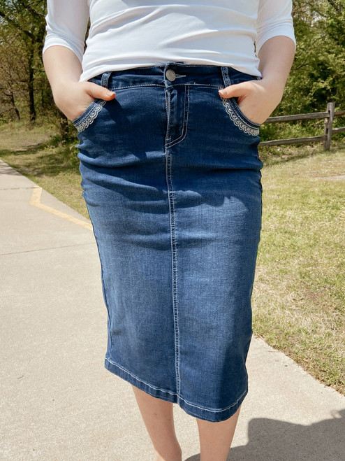 Addi Denim Skirt  *Indigo*