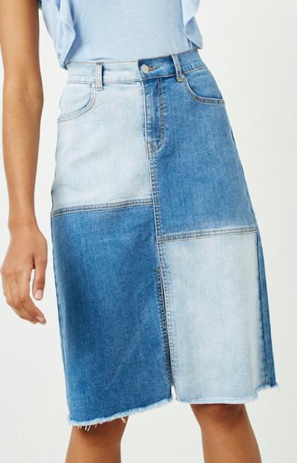 Bailey Color Block Denim Skirt