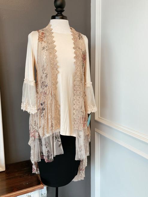 Vintage Floral Lace Vest