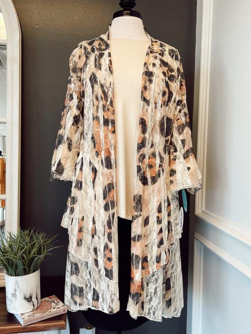 Leopard Lace Kimono