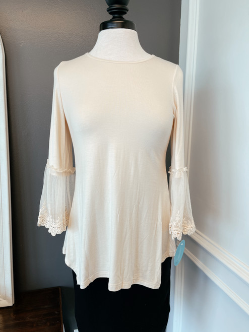 Cream Lace Layering Top