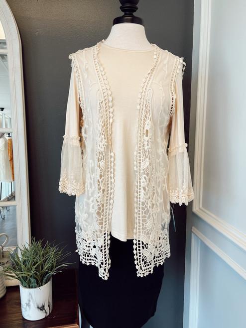 Dainty Lace Vest *Cream*