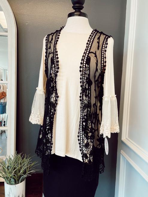 Dainty Lace Vest *Black*
