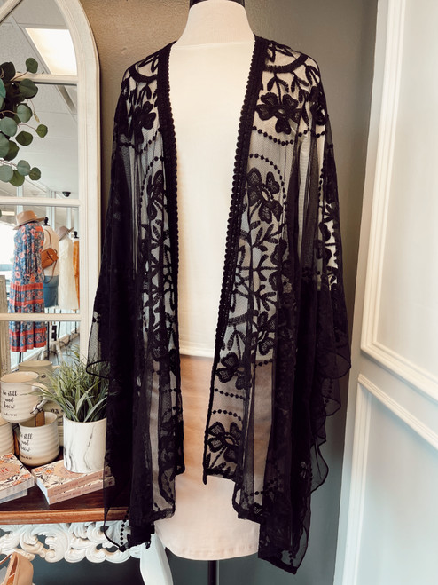 Lace Kimono *Black*