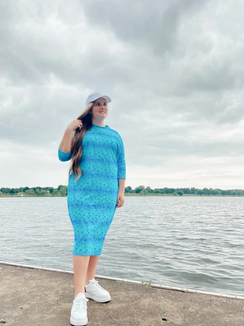 Modest Dolman Style Swim Dress *Under The Sea*