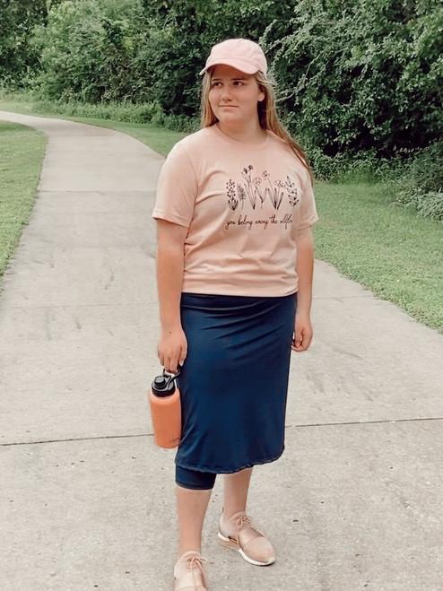 Modest Athletic Skirt With Leggings *Navy*