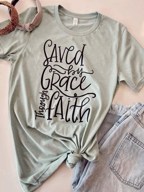 Saved by Grace Thru Faith Graphic Tee