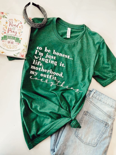 Winging it Life Motherhood My Outfit Graphic Tee