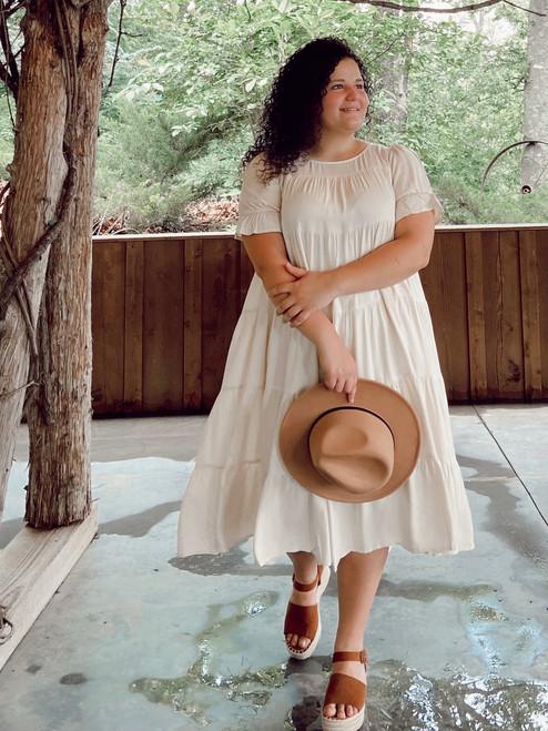 Eva Tiered Twirl Dress *Cream*