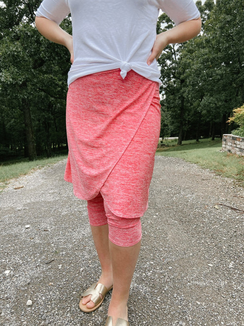 Space Dye Wrapped Athletic Skirt *Coral* Final Sale