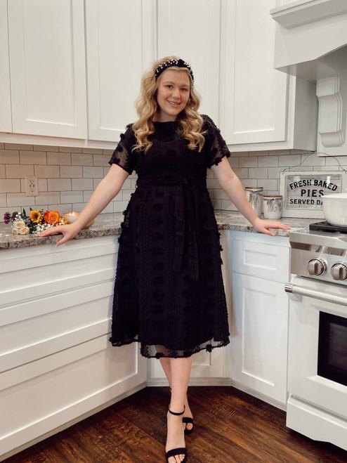 Pipa Dotted Swiss Dress *Black*