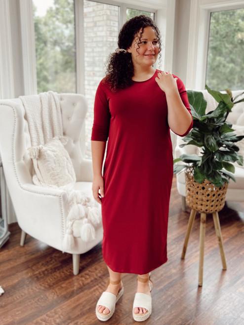 The Layering Dress *Burgundy*