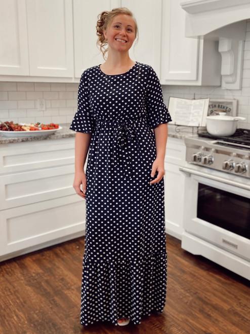 Polka Dot Navy Dress