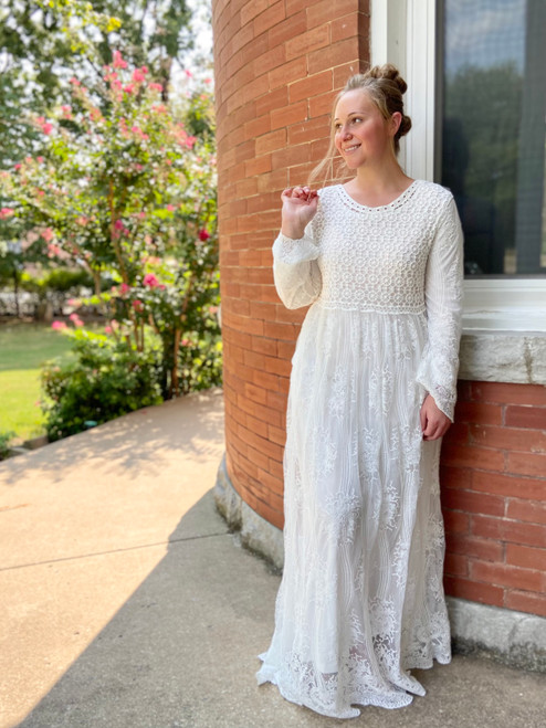 Promise Forever Lace Dress *White*