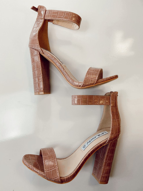 Cobblestone Heels Shoes *Mauve*