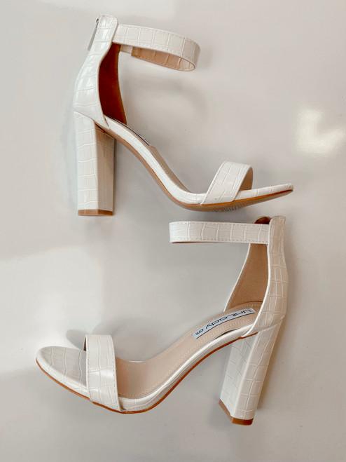 Cobblestone Heels Shoes *White*