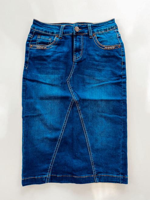 Ida Embroidered Pocket Denim Skirt