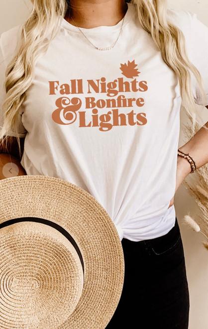 Fall Nights & Bonfire Lights Graphic Tee