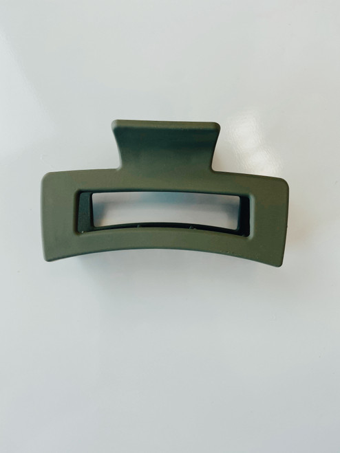 Matte Hair Claw Clip *Olive*