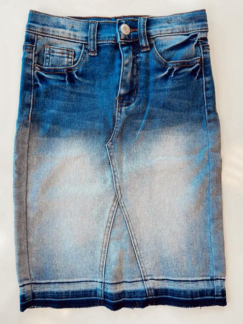 Monica Denim Skirt *Kids* (Blue Blush Wash)