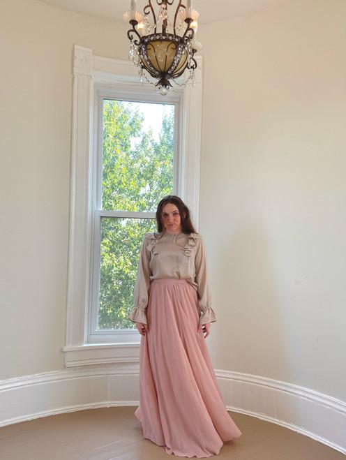 Marissa Chiffon Maxi Skirt *Blush*