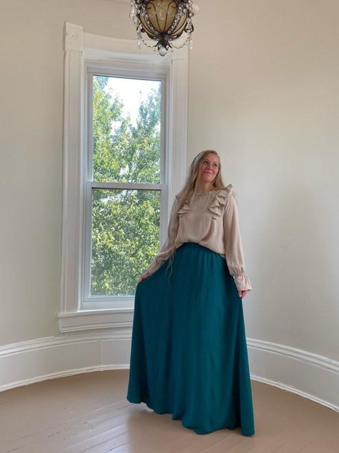 Marissa Chiffon Maxi Skirt *Evergreen*