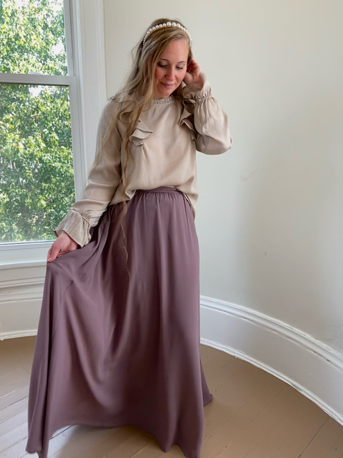 Marissa Chiffon Maxi Skirt *Antique Mauve*