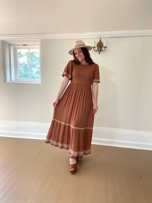 Allie Smocked Dress *Terracotta*