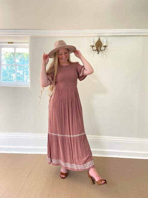 Allie Smocked Dress *Antique Rose*