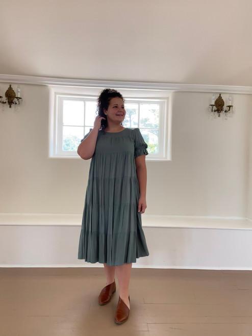 Eva Tiered Twirl Dress *Sage*