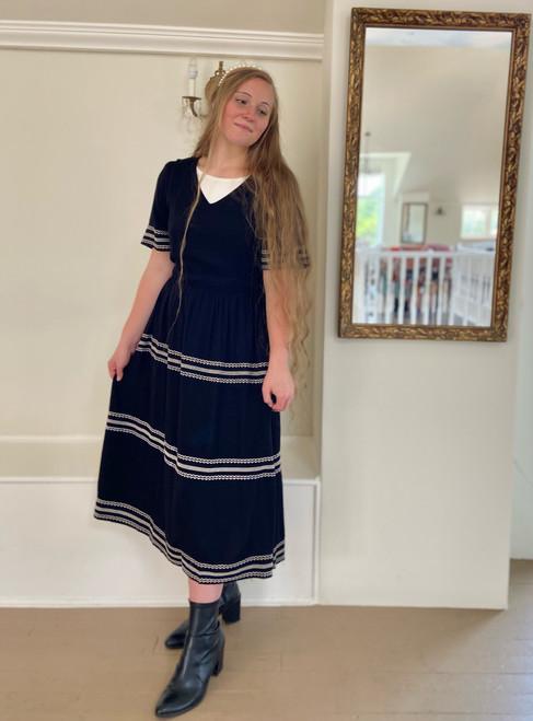 Laura Tiered Twirl Dress *Black*
