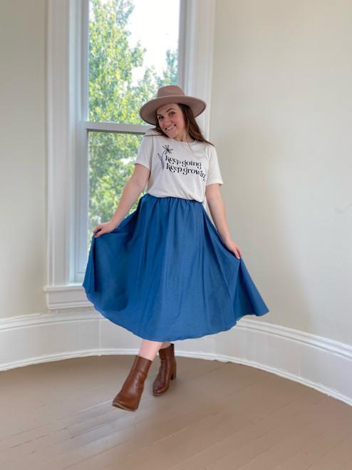 Addison Chambray Skirt
